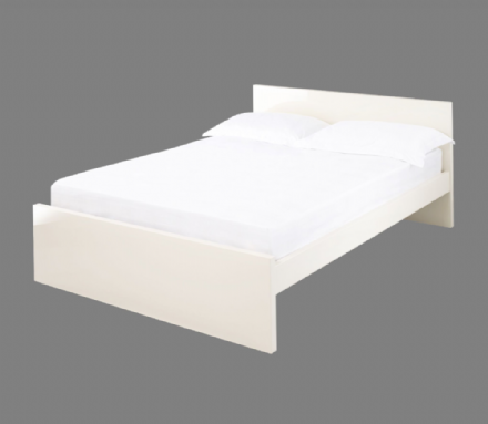 Puro Double Bed Frame - Cream
